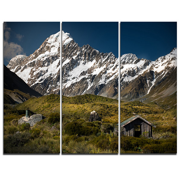 Designart Foggy Mountains And Valley Landscape Photography Canvas Print - 3 Panels