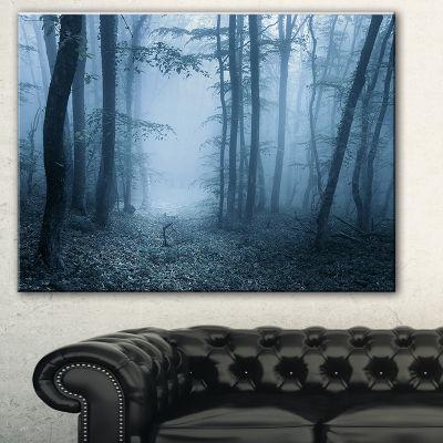 Designart Foggy Spring Forest Landscape Photography Canvas Art Print