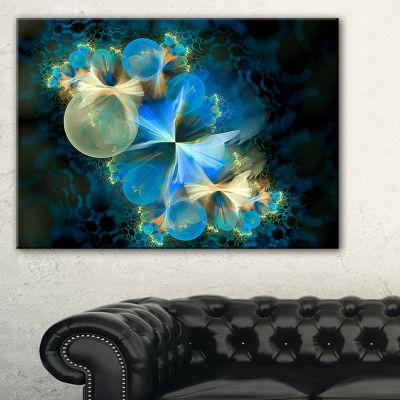 Design Art Fractal 3D Blue Bubbles Abstract CanvasArt Print