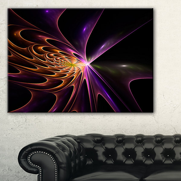 Design Art Fractal 3D Colored Bulgy Circles Abstract Canvas Art Print
