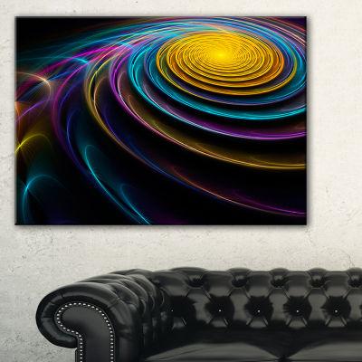 Designart Fractal 3D Colored Bulgy Circles Contemporary Canvas Art Print