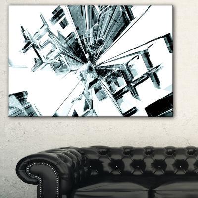 Designart Fractal 3D Cubes Everywhere Abstract Canvas Art Print
