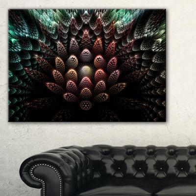 Designart Fractal 3D Flower Fantasy Abstract Canvas Art Print