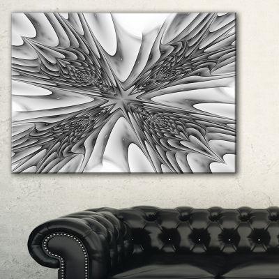 Designart Fractal 3D Magical Depth Abstract CanvasArt Print - 3 Panels