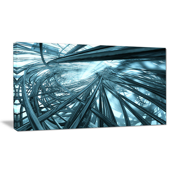 Design Art Fractal 3D Stripes Everywhere AbstractCanvas Art Print