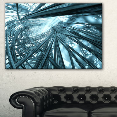 Designart Fractal 3D Stripes Everywhere AbstractCanvas Art Print