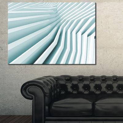 Designart Fractal Architecture 3D Waves AbstractCanvas Art Print