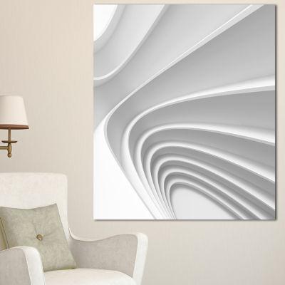 Designart Fractal Bulgy Layered 3D Waves AbstractCanvas Art Print