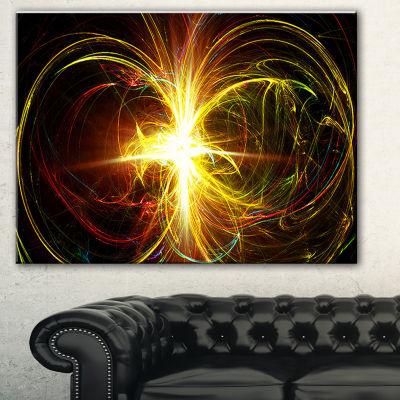Designart Fractal Hoops Abstract Canvas Art Print-3 Panels