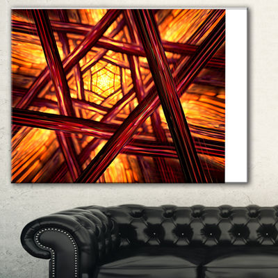 Designart Fractal Mandala Design Abstract CanvasArt Print