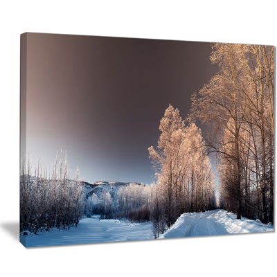 Designart Futuristic Winter Sky Landscape Photography Canvas Print