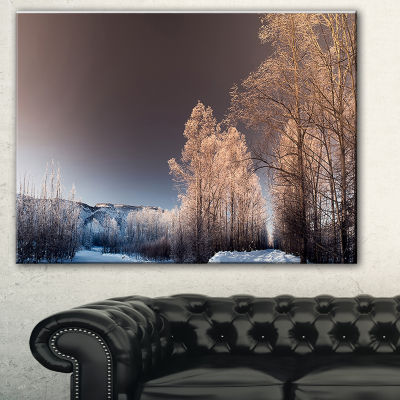 Designart Futuristic Winter Sky Landscape Photography Canvas Print - 3 Panels