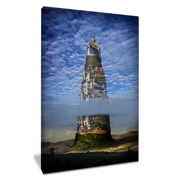 Design Art Gigantic Castle Collage Landscape CanvasArt Print