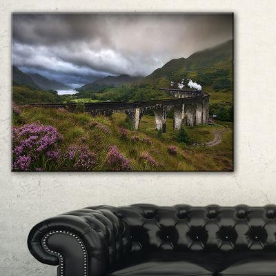 Designart Glenfinnan Viaduct Scotland Landscape Photography Canvas Print - 3 Panels