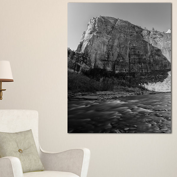 Design Art Glow Of Morning Dark Landscape Photography Canvas Art Print