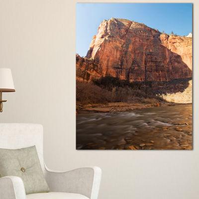 Designart Glow Of Morning Landscape Photography Canvas Art Print - 3 Panels