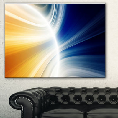 Designart Glowing Abstract Lines Abstract CanvasArt Print
