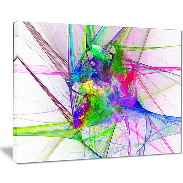 Designart Glowing Ball Of Smoke Abstract Canvas Art Print