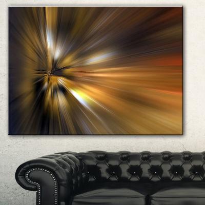 Designart Glowing Brown Focus Light Large AbstractArt