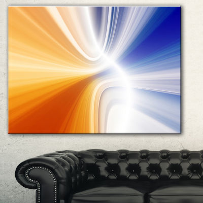 Designart Glowing Colored Lines Abstract Canvas Art Print