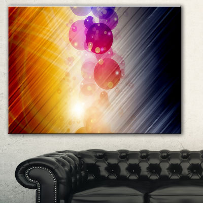 Designart Glowing Colored Spheres Abstract CanvasArt Print
