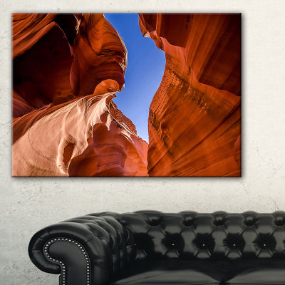 Designart Grand Antelope Canyon Landscape Photography Canvas Print - 3 Panels