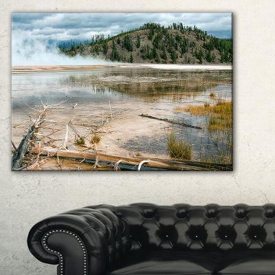 Designart Grand Prismatic Spring Landscape Photography Canvas Art Print