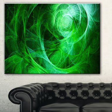 Designart Green Stormy Sky Texture Abstract CanvasArt Print