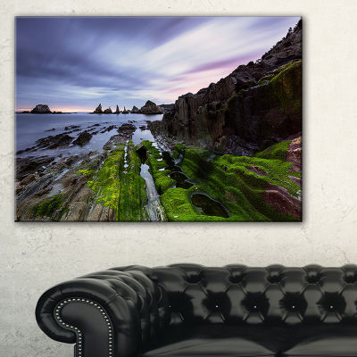 Designart Gueirua Beach In Spain Seashore Photography Canvas Print