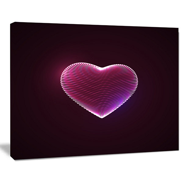 Designart Happy Valentines Day Contemporary CanvasArt Print