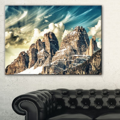 Designart High Peaks Of Dolomites Landscape PhotoCanvas Art Print