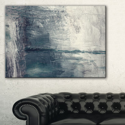 Designart Grey Abstract Pattern Oil Painting Abstract Canvas Painting - 3 Panels