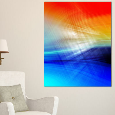 Designart 3D Mix Of Red Blue Yellow Abstract Canvas Art Print