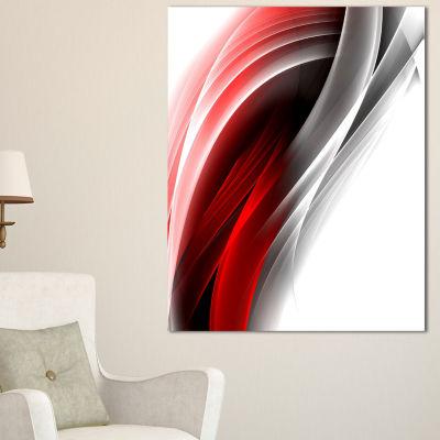 Designart 3D Pink Silver Vertical Lines AbstractCanvas Art Print - 3 Panels