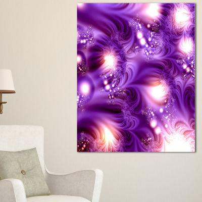 Designart 3D Purple Texture Pattern Abstract Canvas Art Print