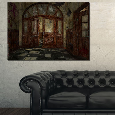Designart Abandoned Interior Landscape Painting Canvas Artwork Print