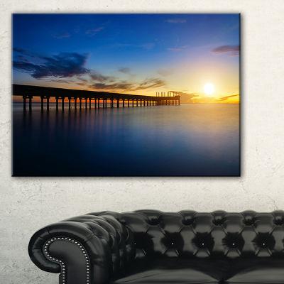 Designart Abandoned Piers In The Sea Seascape Canvas Art Print