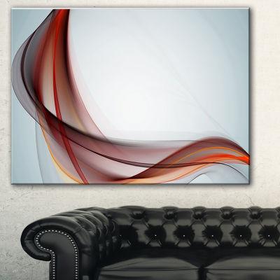 Designart Abstract Brown Upward Waves Large Abstract Art