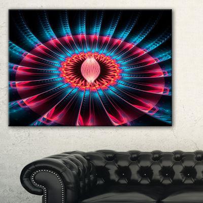 Designart Abstract Colorful Fractal Flower FloralCanvas Art Print - 3 Panels