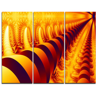 Designart Abyss With Infinite Depth Abstract Canvas Art Print - 3 Panels