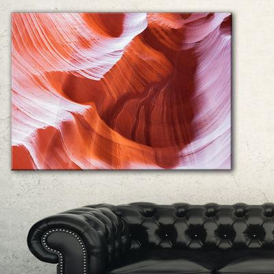 Designart Antelope Canyon Brown Wall Landscape Photography Canvas Print