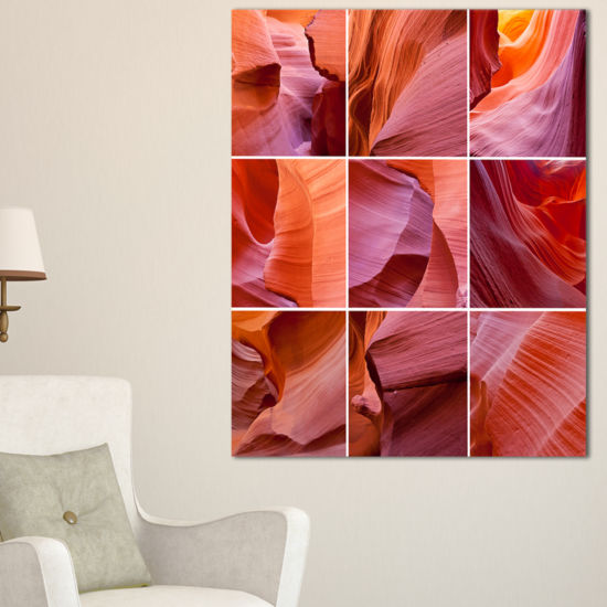 Designart Antelope Canyon Collage Landscape PhotoCanvas Art Print