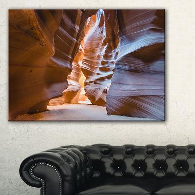 Designart Antelope Canyon Glow Inside Landscape Photography Canvas Print - 3 Panels