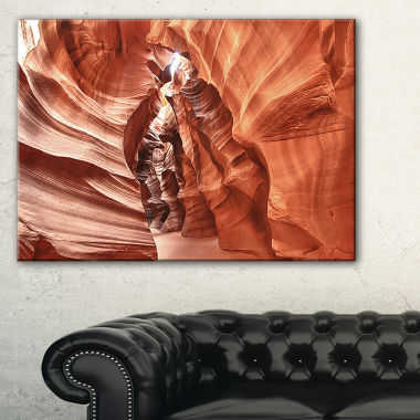 Designart Antelope Canyon High Structures Landscape Photography Canvas Print