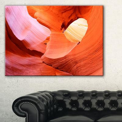 Designart Antelope Canyon Inside Landscape PhotoCanvas Art Print