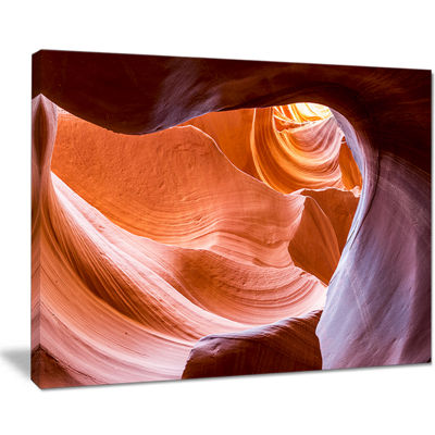 Designart Antelope Canyon Inside View Landscape Photography Canvas Print