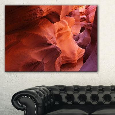 Designart Antelope Canyon Magical Shades LandscapePhotography Canvas Print