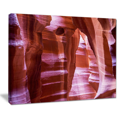 Designart Antelope Canyon Structures Landscape Photography Canvas Print