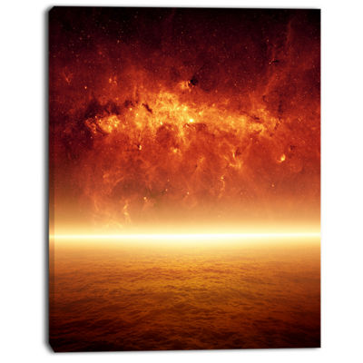 Designart Apocalyptic Background Spacescape CanvasArt Print