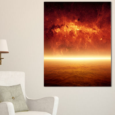 Designart Apocalyptic Background Spacescape CanvasArt Print - 3 Panels